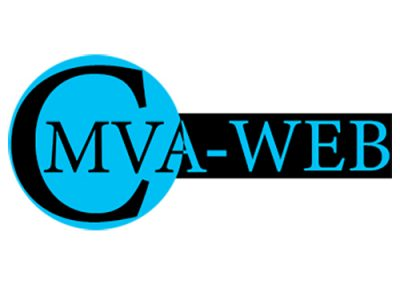 CMVA-WEB Logo, blue and black.