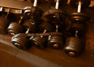 Picture of Dumbbell weights.
