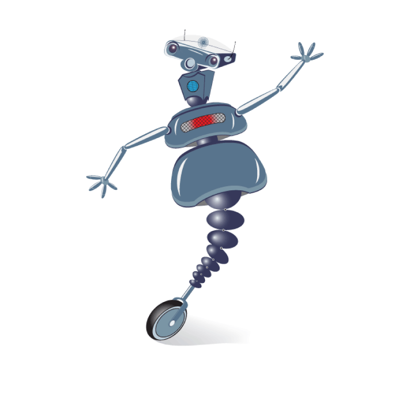Wheelie the robot, CMVA mascot.