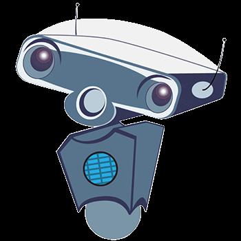 Wheelie the Robot. CMVA Mascot.