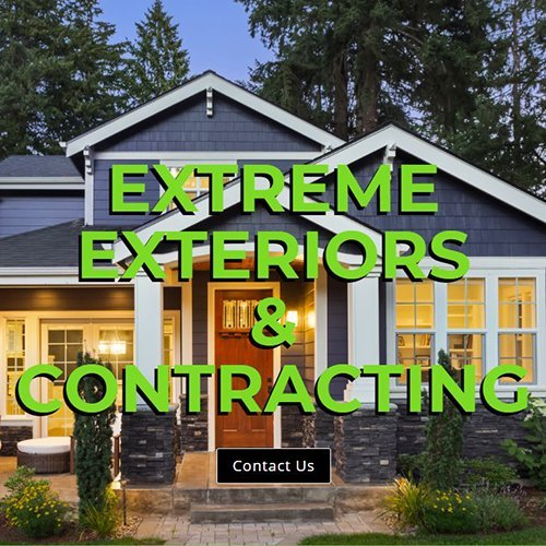 Website home page for Extreme Exteriors.