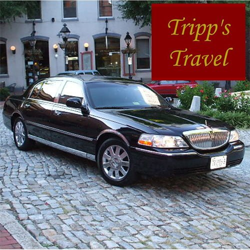 Website home page for Tripps Travel limo.