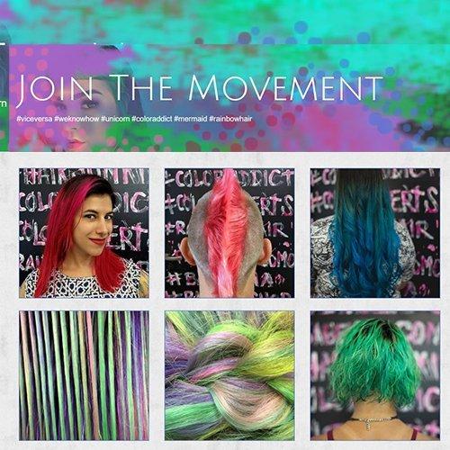 Demo website image for a hair salon.