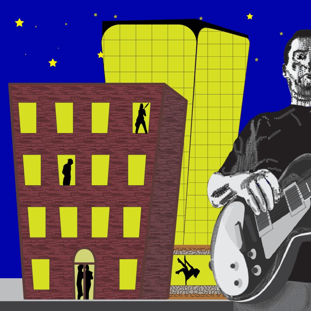 Illustrator project, record album cover.